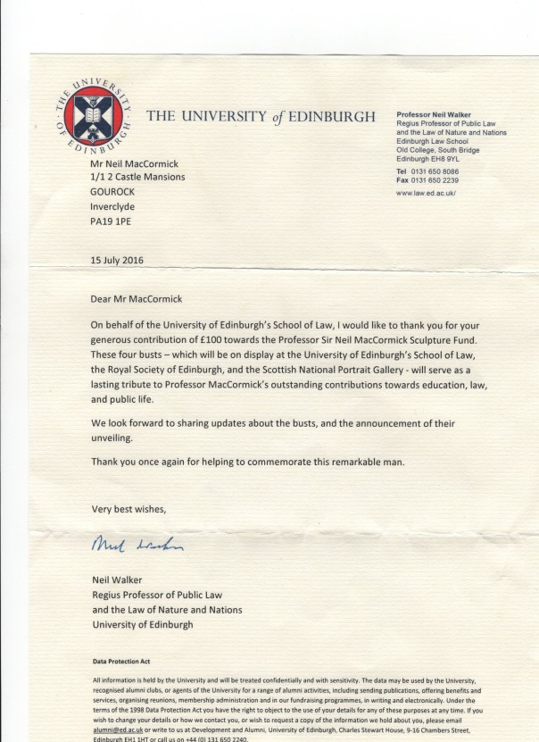 edinburgh law school letter